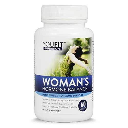 Hormone Balance for Woman & Menopause Support with Black Cohosh, Dong Quai, Red Clover & More