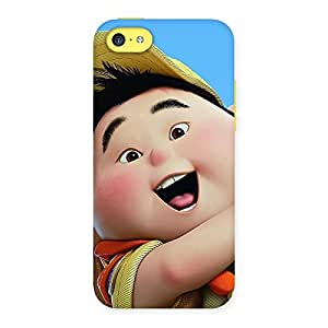 Ajay Enterprises Cuty Boy Look Up Back Case Cover for iPhone 5C