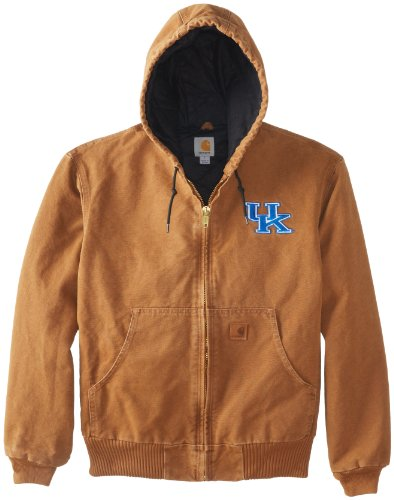 Ncaa Kentucky Wildcats Men'S Quilted Flannel Lined Sandstone Active Jacket, Carhartt Brown, X-Large front-273074