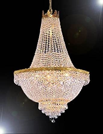 """French Empire Crystal Chandelier Lighting H30"""" X W24"""