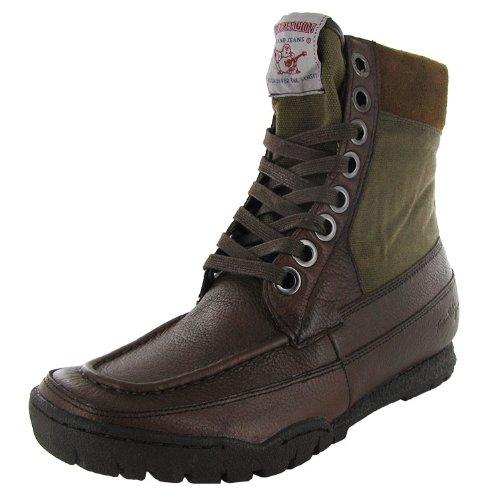 True Religion Men's Riva Boot,Dark Brown/Olive,9 M US