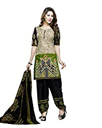 Neerja creation women's cotton Unstiched Dress material(K-2019_Green)