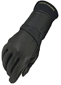 Heritage Pro 8.0 Bull Riding Glove (Black), Right Hand, Size 8