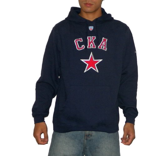 KHL SKA Saint Petersburg Mens Athletic Pullover Hoodie / Sweatshirt with Embroidered Logo (Size: L)