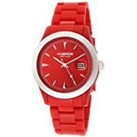 [ケイエブロス] K&Bros 腕時計 Unisex Ice-Time Full Color Red Watch 日本製クォーツ 9541-3 [高級セーム革セット]【並行輸入品】