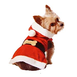 Holiday Time Dog Santa Suit Christmas Pet Outfit With Attached Santa Hat by Holiday Time