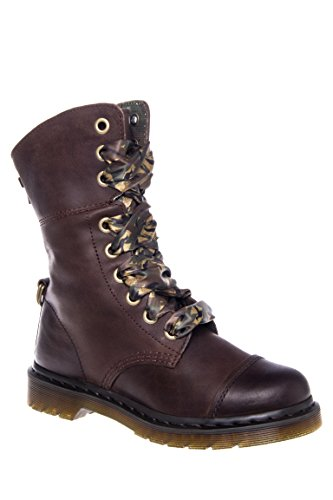 Aimilita 9 Eye Toe Cap Low Heel Boot
