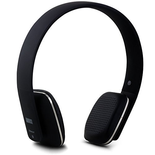 August EP636 - Cuffie stereo Senza Fili Bluetooth NFC Over-Ear,Microfono intagrato e batteria ricaricabile, Compatibile con Smartphones, iPhone, iPad, PC, Tablet, Telefonini