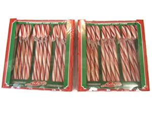 Bob's Original Red & White Candy Canes- 2 dozen-Reinforced Package