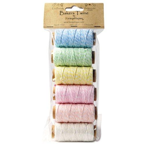 Hemptique Cotton Baker's Twine Spool Set, Mini, Creamy Pastel,HEMPTIQUE,BTBG2CP