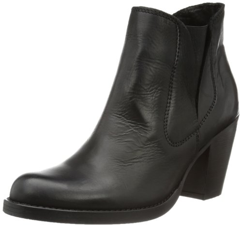 PIECES Womens BEATE LEATHER CHELSEA BOOT BLACK Chelsea Boots Black Schwarz (Black) Size: 36
