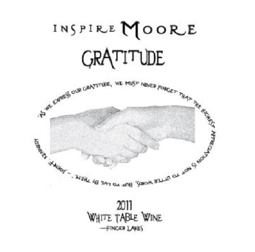 "2011 Inspire Moore ""Gratitude"" Finger Lakes White Blend 750 Ml"