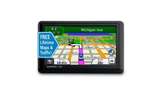 Garmin nüvi 1490LMT 5-Inch Bluetooth Portable GPS Navigator with Lifetime Map Updates and Traffic
