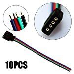 ZITRADES LED RGB Light Strips 10 Pcs Female Connector RGB Wire Cable For SMD 5050/3528 RGB LED Strip light BY ZITRADES from ZITRADES