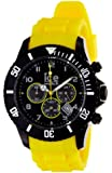 ICE-Watch - Montre Mixte - Quartz Analogique - Ice-Chrono - Black yellow - Big - Cadran Noir - Bracelet Silicone Jaune - CH.BY.B.S.10