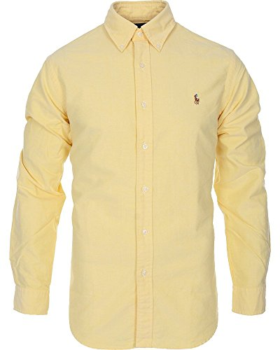 Polo Ralph Lauren Mens Classic Fit Buttondown Oxford Shirt (Bsr Yellow, Large) (Polo Classic Fit Button Down compare prices)