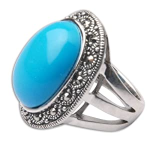 Silver Rings for Women Turquoise Rings US Size 4 (rng363a)