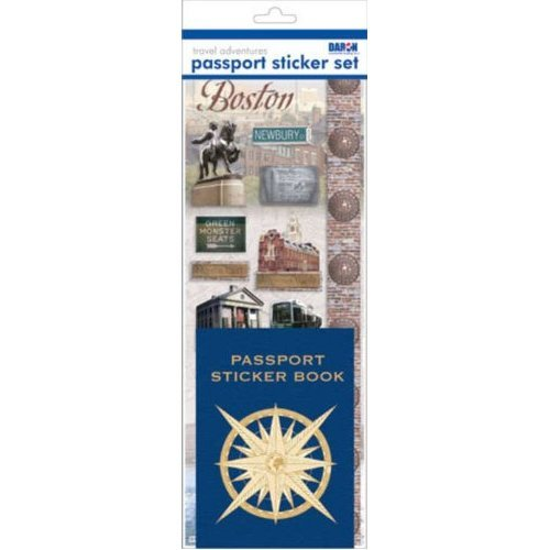 Passport or Scrapbooking Sticker Set-Boston - 1
