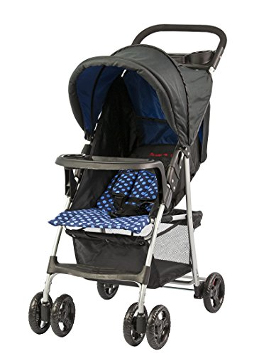 Dream On Me Jupiter Stroller, Black/Blue, Small - 1
