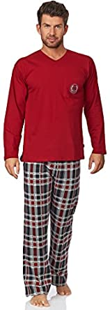 Cornette Hommes Ensemble de Pyjama CR-124-Shield (Bordeaux-2, XL)