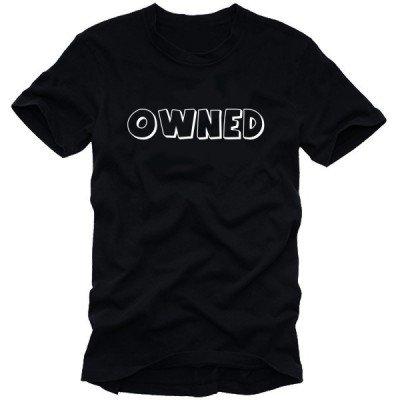 OWNED Counter T-Shirt nera nero/bianco, XXL