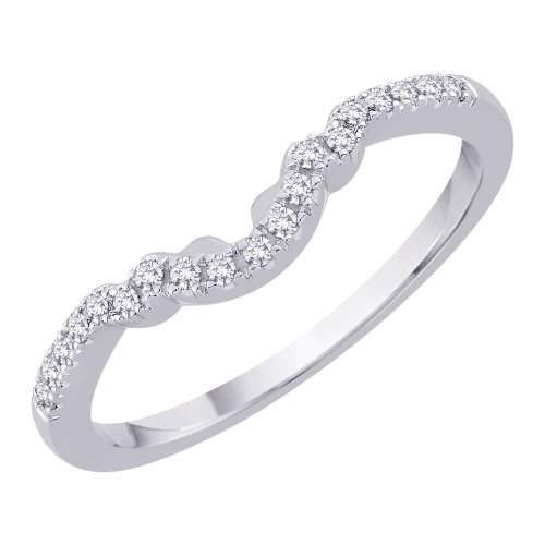 14K White Gold 0.13 ct. Diamond Wedding Band (G-H Color, SI2-I1 Clarity)