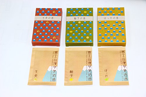 Magmania 富士山漢草美活湯生姜・柚子・はっかー 入浴剤 180g