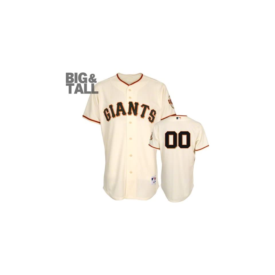 San Francisco Giants Jersey Any Number Big & Tall Home Ivory Authentic On Field Jersey without World Series Patch