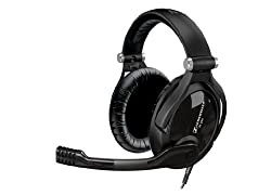 Sennheiser PC 350 Collapsible Gaming Over-Ear Headphone with Volume Control and Microphone Mute (Black)