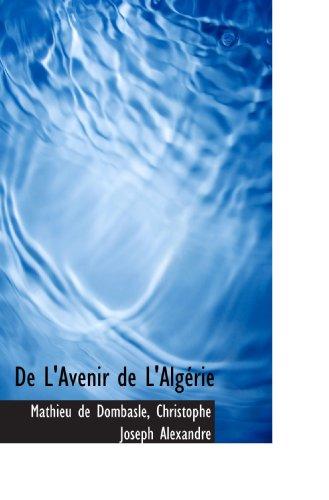 De L'Avenir de L'Algérie
