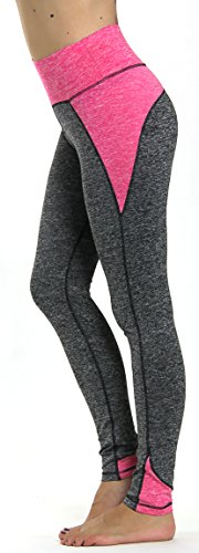 Prolific Health Yoga Pants Fitness Flex Power Leggings - All Colors - S - L (Small, Gray/Pink)