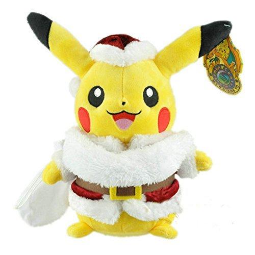 Plush Doll Stuffed Toy For Anime Pokemon Pikachu Christmas Hat 12 ...