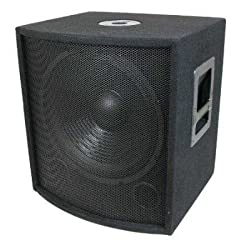 "Pro Audio 15"" DJ PA Passive Subwoofer with built in crossover 350W rms/700W peak by Custom Audio"