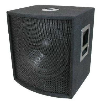 """Pro Audio 15"""" DJ PA Passive Subwoofer with built in crossover 350W rms/700W peak by Custom Audio"""