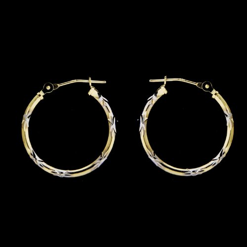 14KT Gold Hoops 2T DC 20M