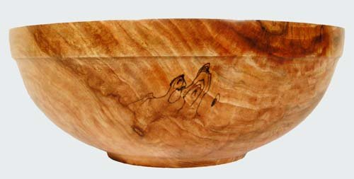 Spalted Maple Wood Bowl Wood Bowl Spalted Maple Alms