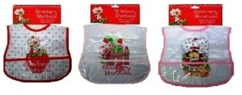 Strawberry Shortcake Infant Vinyl Bibs, (3 Pack) front-692385