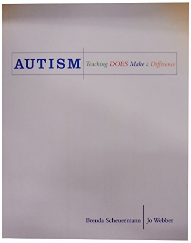 Autism: Teaching Does Make a Difference