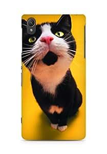 AMEZ designer printed 3d premium high quality back case cover for Sony Xperia Z2 (wsCuteBlackandWhiteCat640x1136)