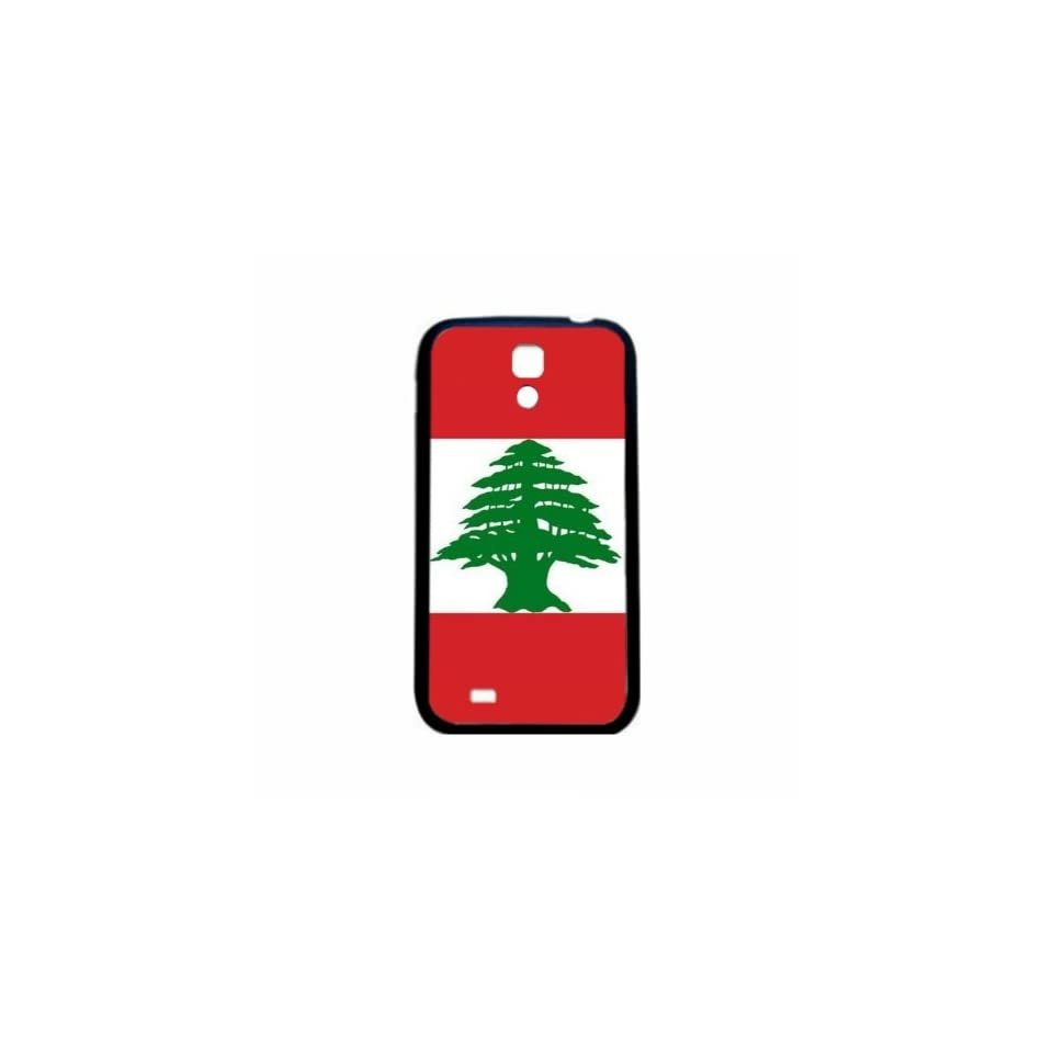 Lebanon Flag Samsung Galaxy S4 Black Silcone Case   Provides Great Protection