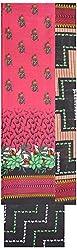 Shrumani Global Women's Cotton Unstitched Dress Material (SG010, Pink & Black)