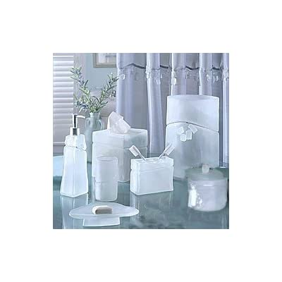 Croscill beach glass bath countertop set 7 pc for Bathroom countertop accessories sets
