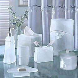 croscill beach glass bath countertop set 7 pc aquavista bathroom accessory sets. Black Bedroom Furniture Sets. Home Design Ideas