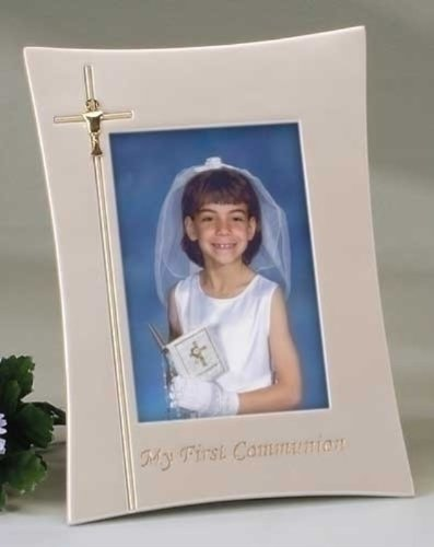Roman Inc. First Communion Frame 4x6 * Confirmation Catholic Communion (Roman Inc Frame compare prices)