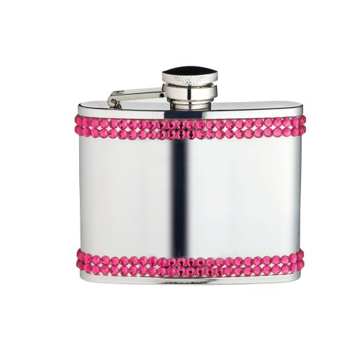 Kitchen Craft Barcraft City Nights Stainless Steel Ladies Hip Flask