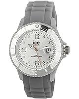 ICE-Watch - Montre Mixte - Quartz Analogique - Ice-Forever - Silver - Unisex - Cadran Gris - Bracelet Silicone Gris - SI.SR.U.S.09