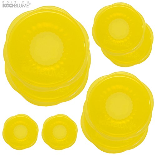 Kochblume stretchii silicone lot de 8 opercules stretchii (jaune)