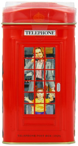 Ahmad English Breakfast Tea in London Telephon Box Tin -25 ct.