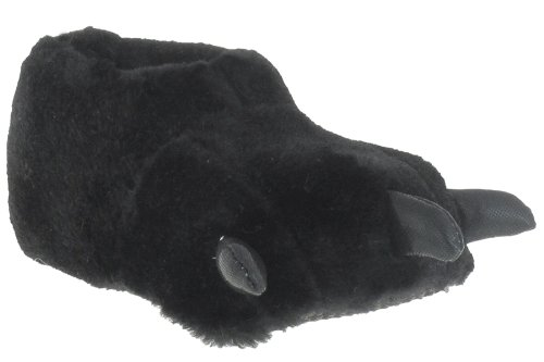 Capelli New York Bear Wlaw Toddler Boys Bootie Indoor Slippers With 3D Parts Black 4/5
