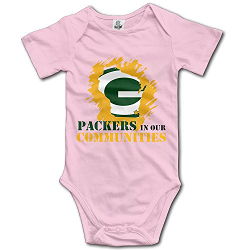 Supmoon Green Bay Packers Baby Cool Climbing Clothes Pink